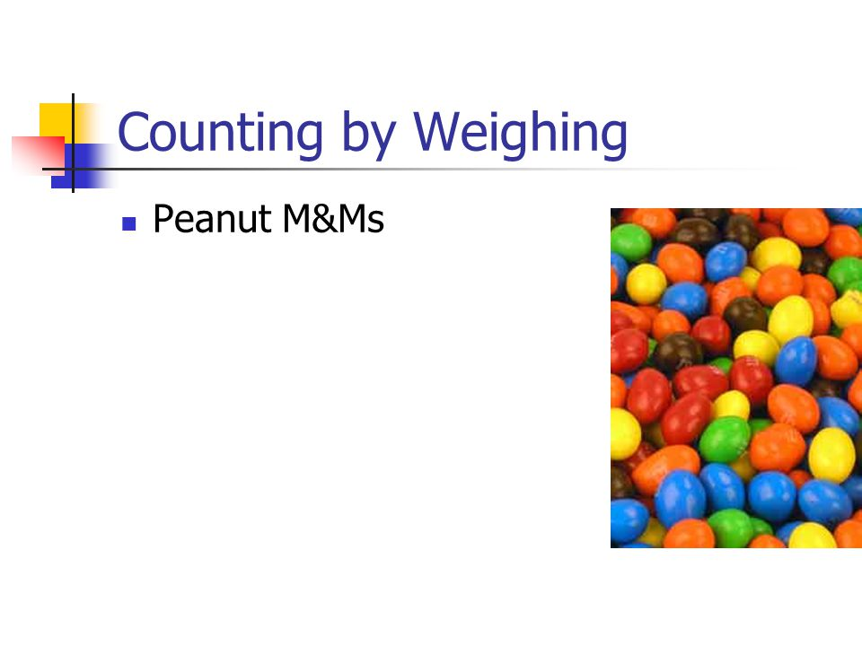 Counting by Weighing Peanut M&Ms