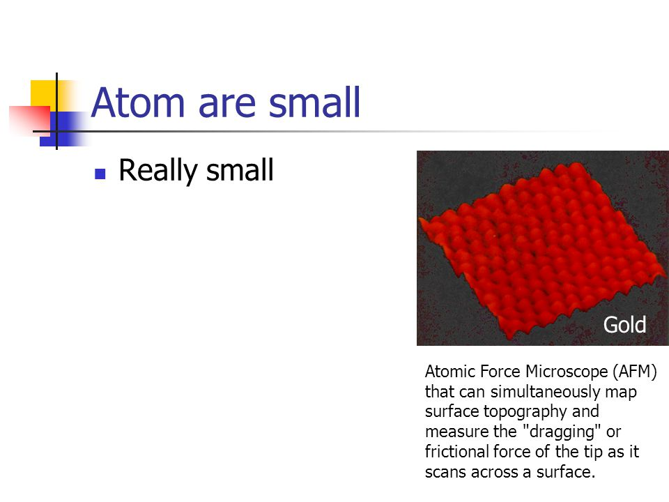 Atom are small Really small Gold
