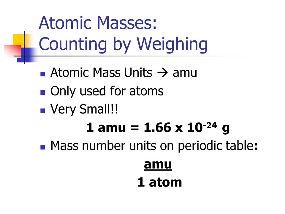 Atomic Masses: Counting by Weighing