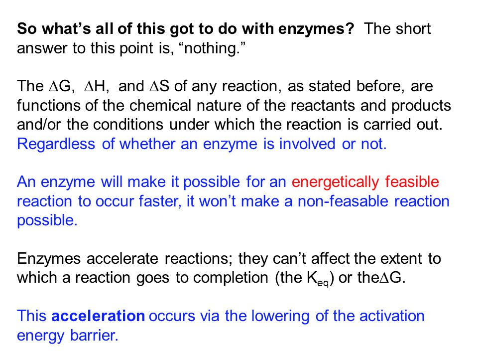 So what's all of this got to do with enzymes