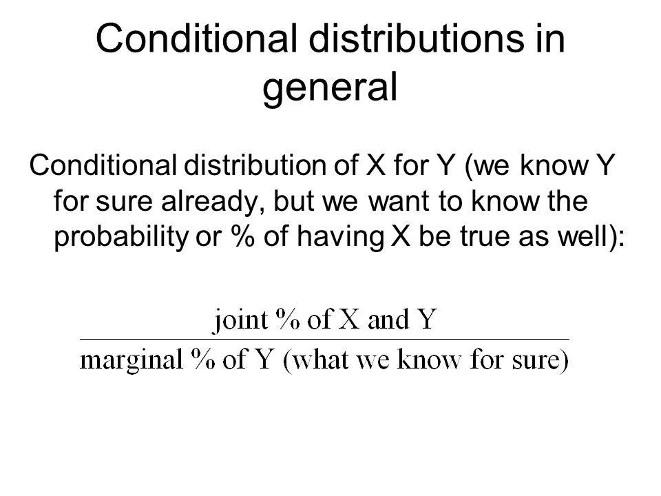 Conditional distributions in general