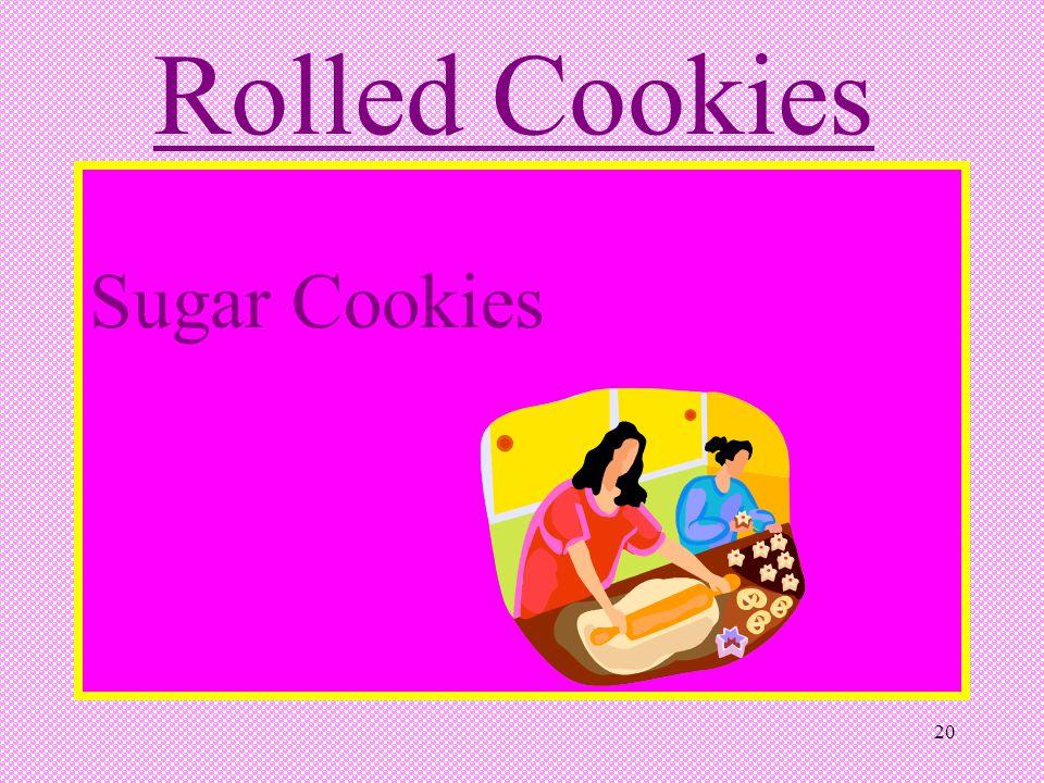 Rolled Cookies Sugar Cookies 20 20