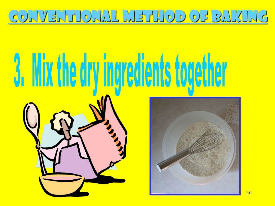 3. Mix the dry ingredients together