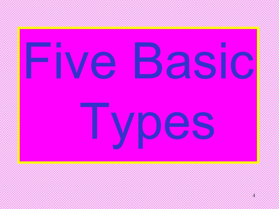 Five Basic Types