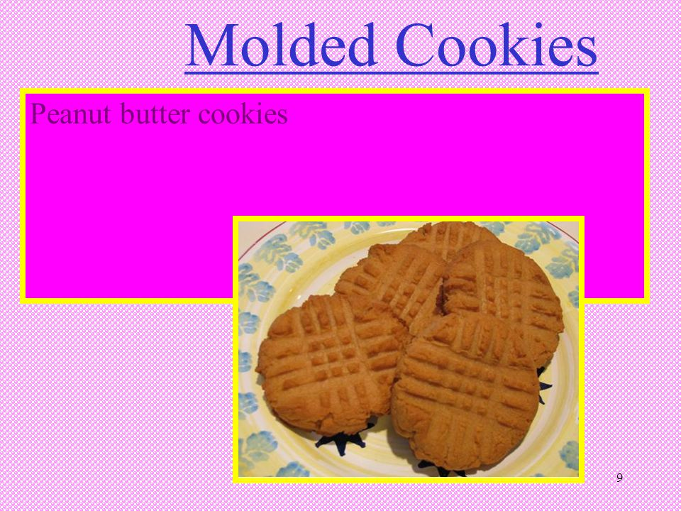 Molded Cookies Peanut butter cookies 9 9
