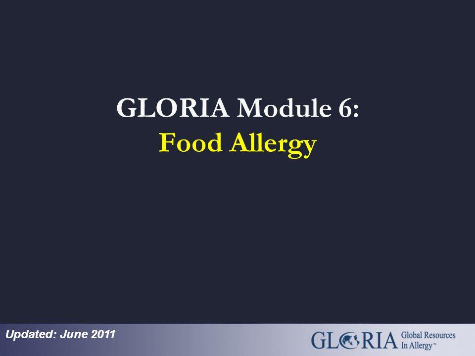 GLORIA Module 6: Food Allergy