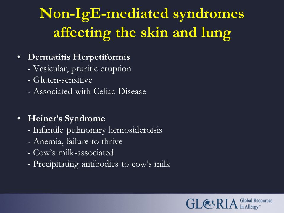 Non-IgE-mediated syndromes affecting the skin and lung