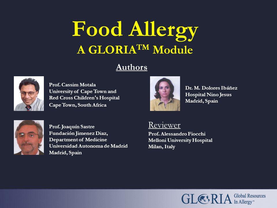 Food Allergy A GLORIATM Module