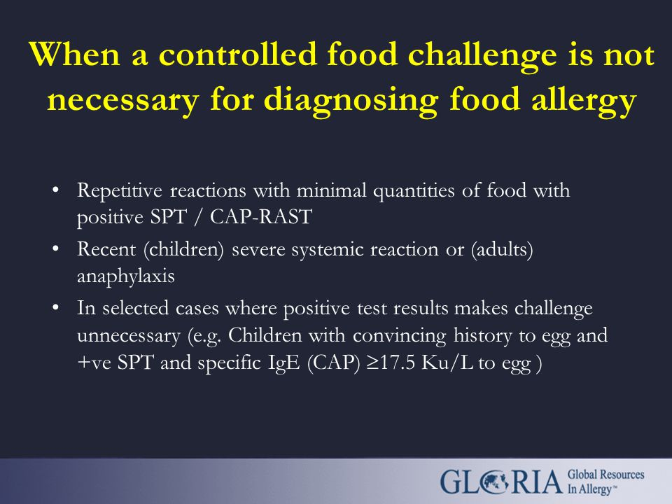 When a controlled food challenge is not necessary for diagnosing food allergy