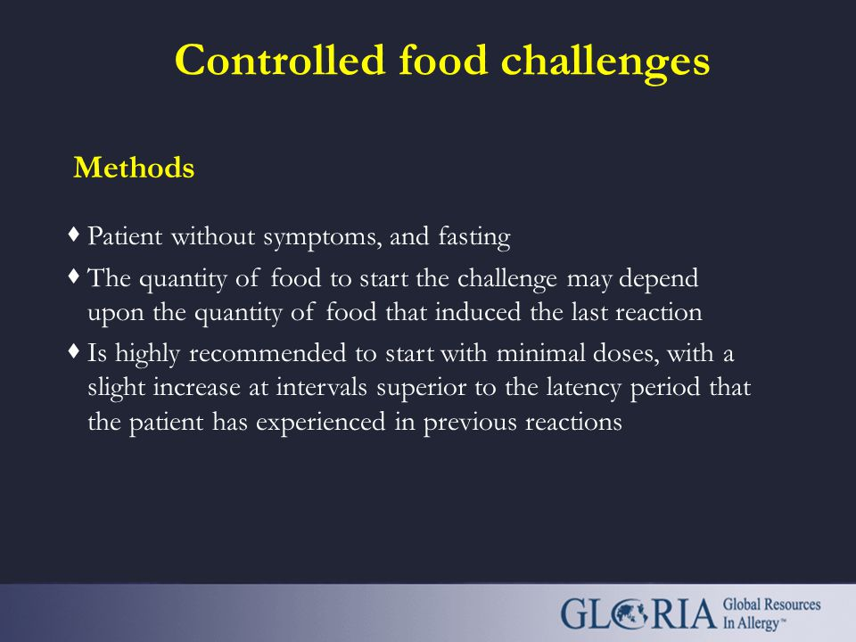 Controlled food challenges