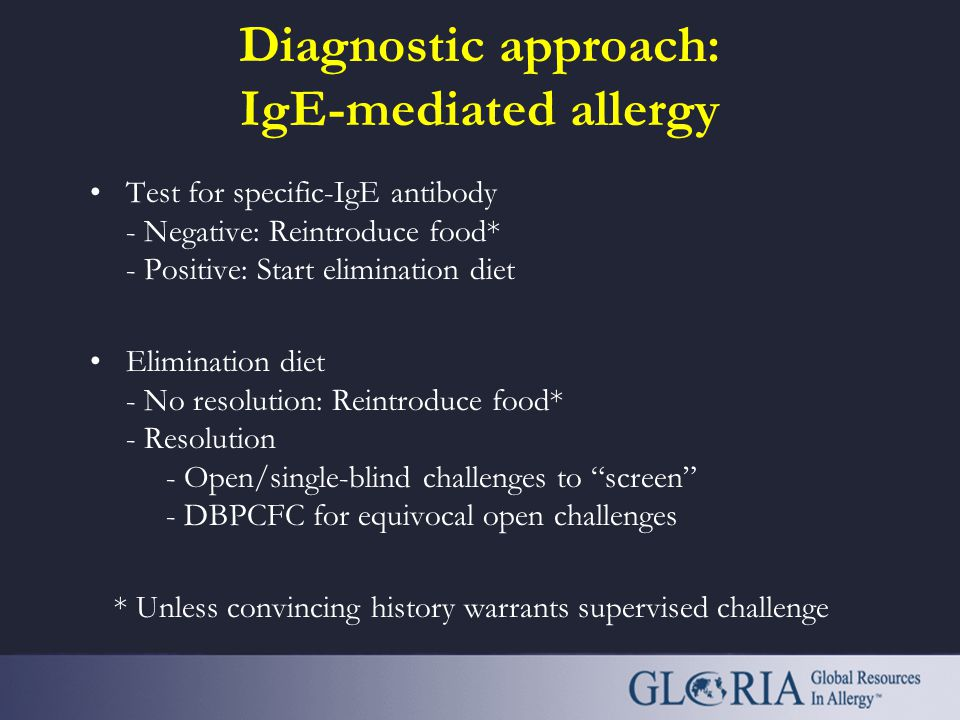 Diagnostic approach: IgE-mediated allergy