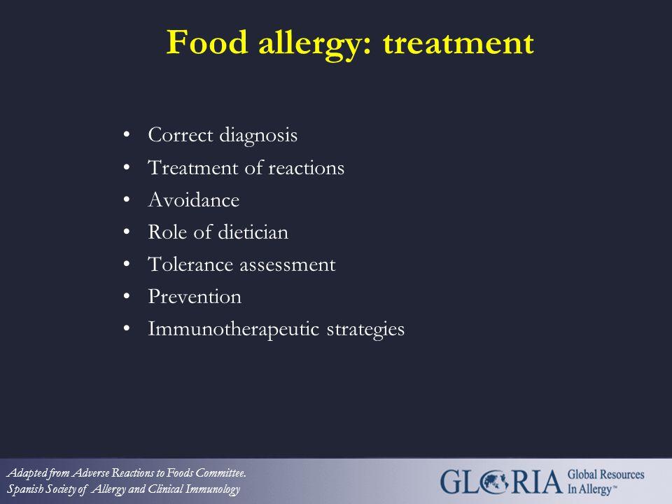 Food allergy: treatment
