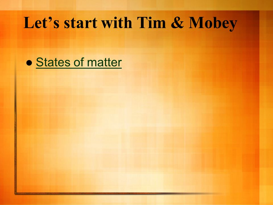 Let's start with Tim & Mobey
