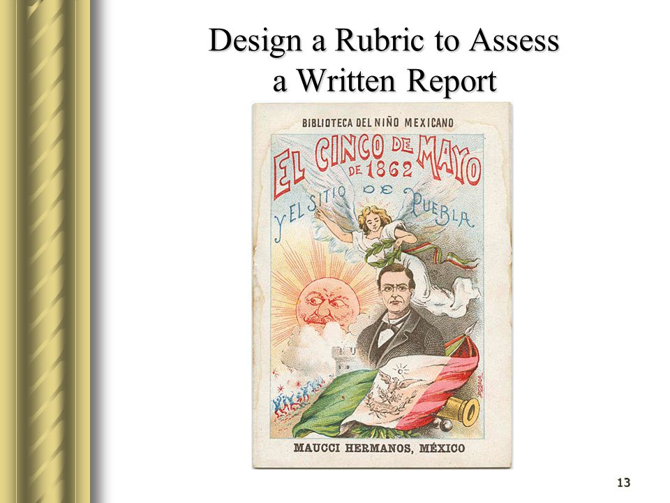 Design a Rubric to Assess a Written Report