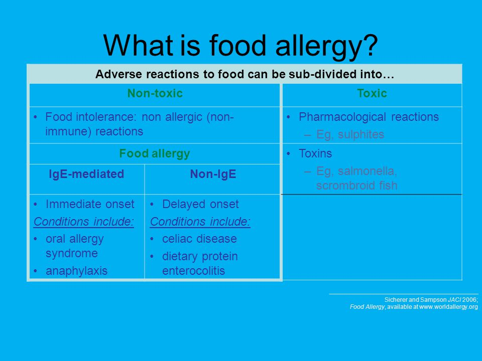 Adverse reactions to food can be sub-divided into…