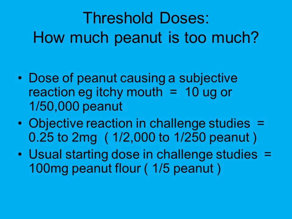 Threshold Doses: How much peanut is too much
