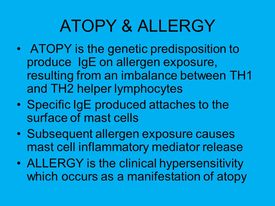ATOPY & ALLERGY