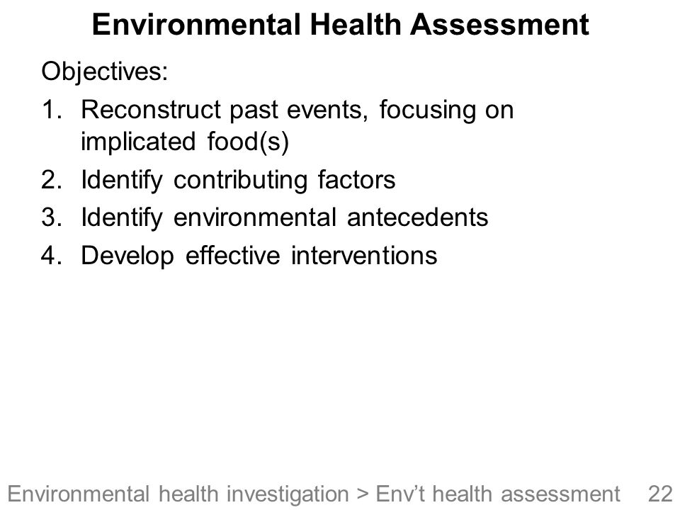Environmental Health Assessment