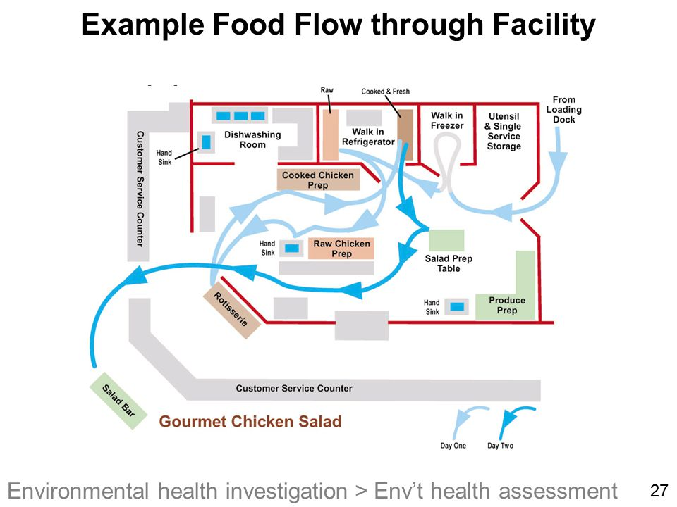 Example Food Flow through Facility