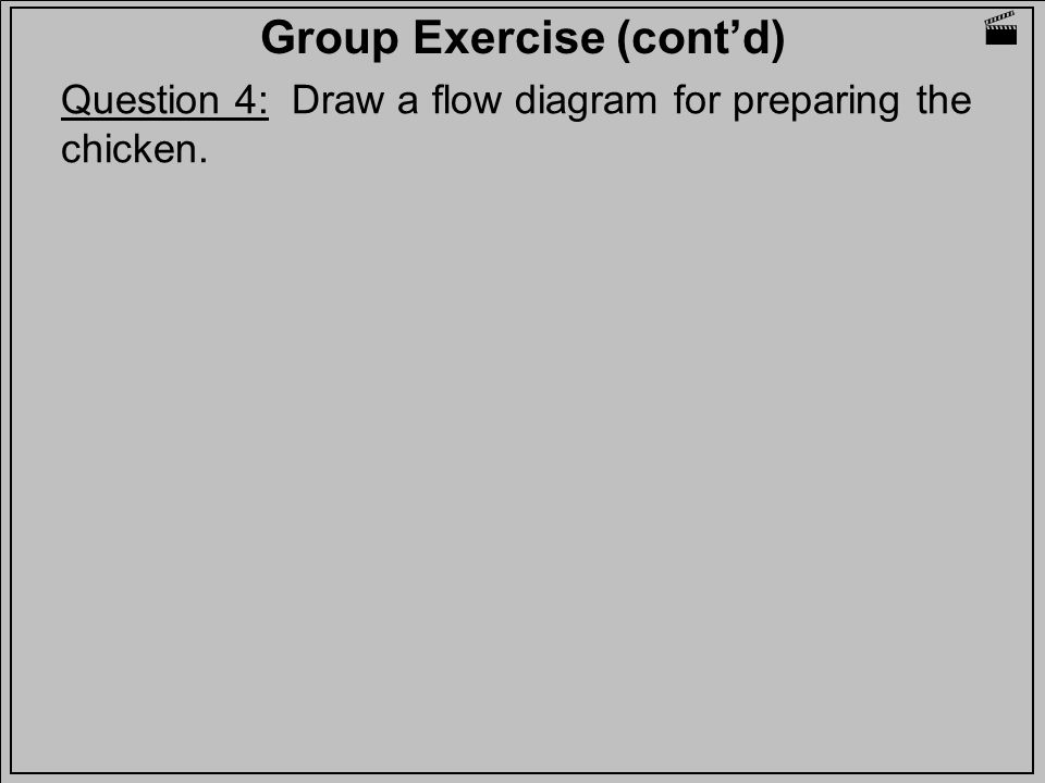 Group Exercise (cont'd)