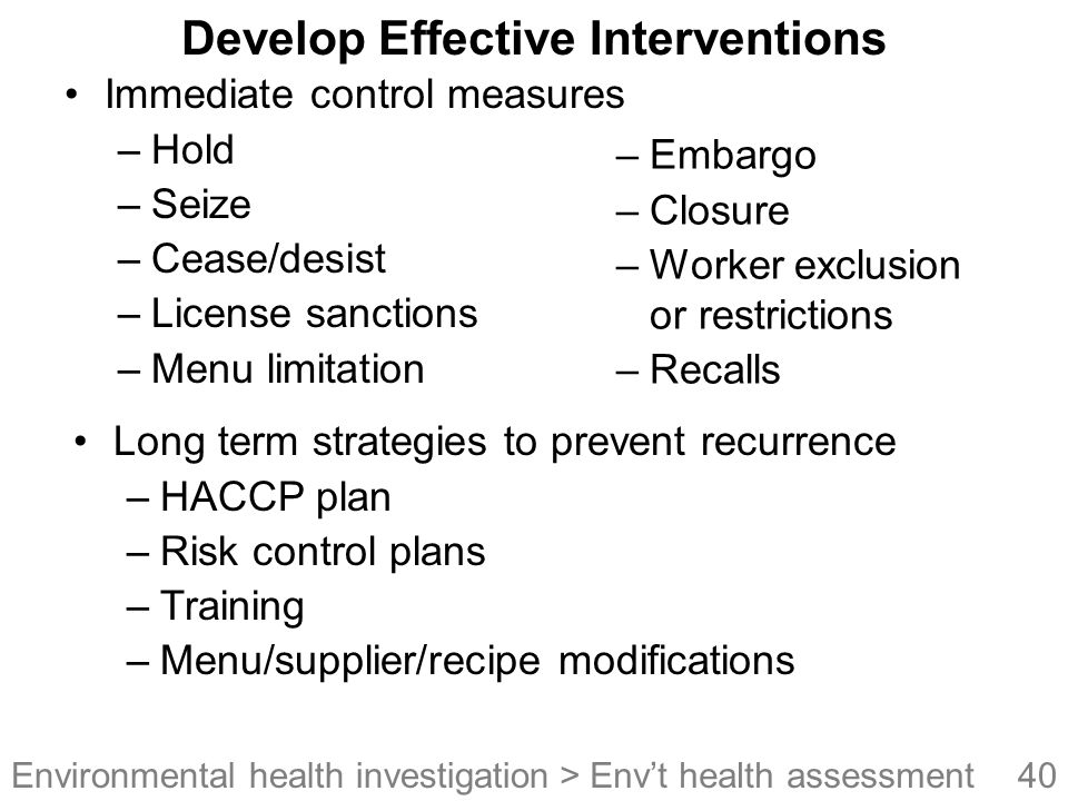 Develop Effective Interventions