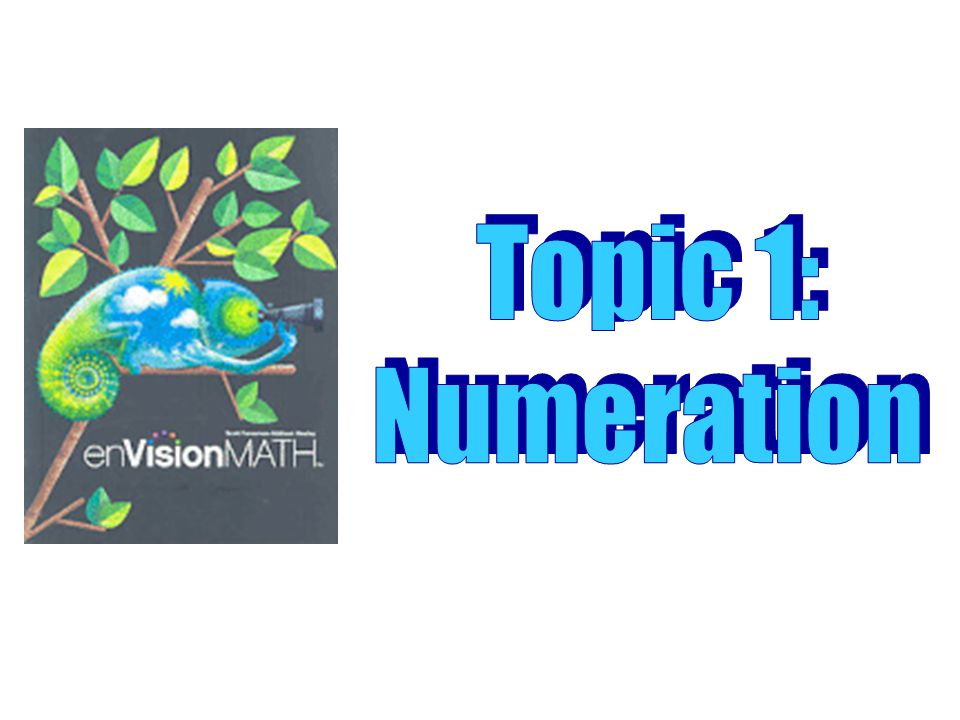 Topic 1: Numeration …Topic 1.