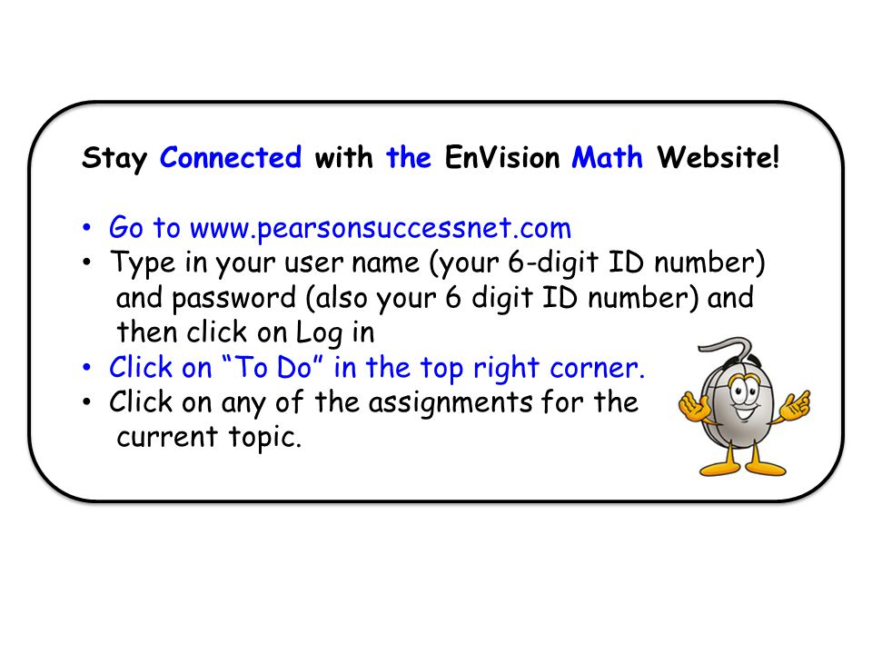 Stay Connected with the EnVision Math Website!