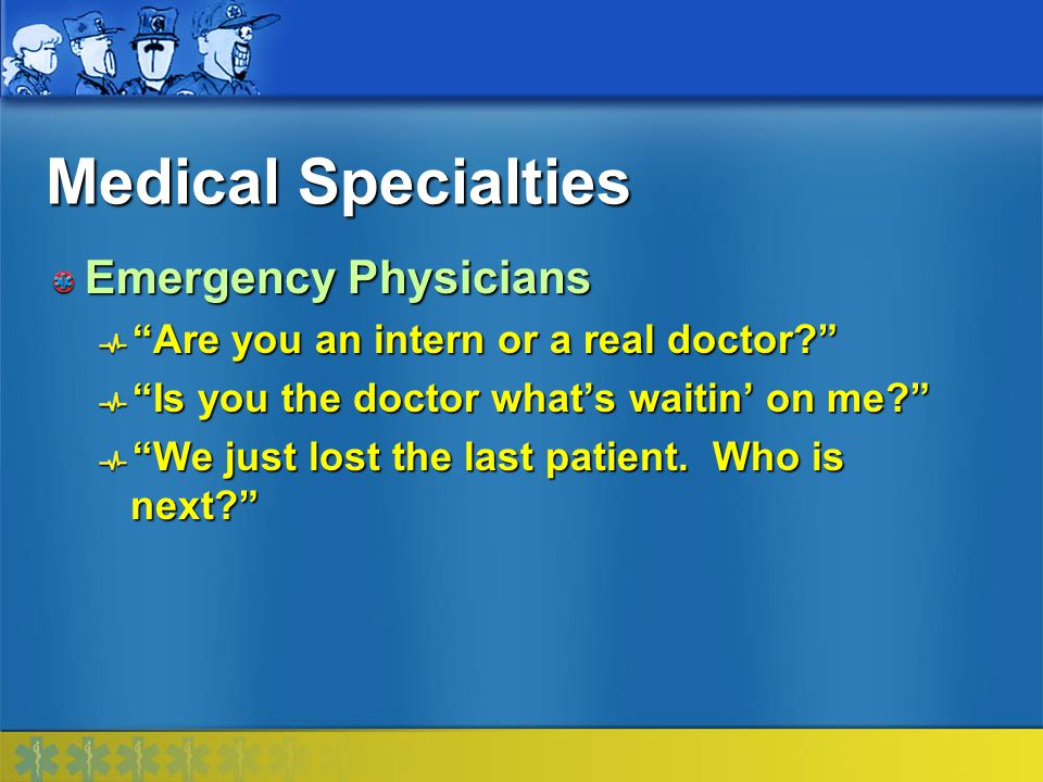 Medical Specialties Emergency Physicians