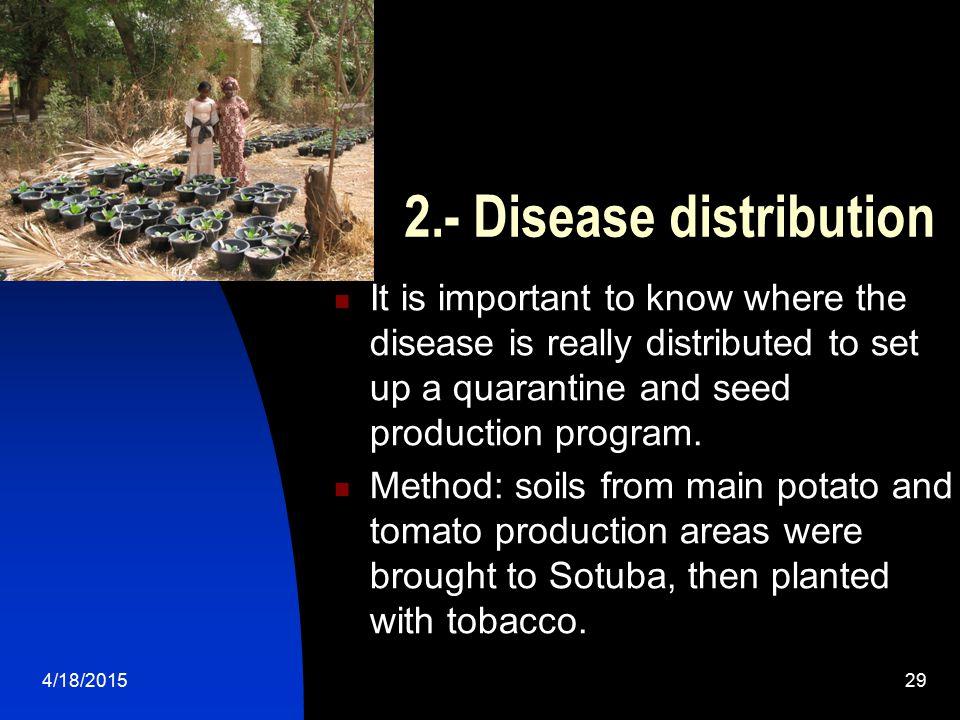 2.- Disease distribution
