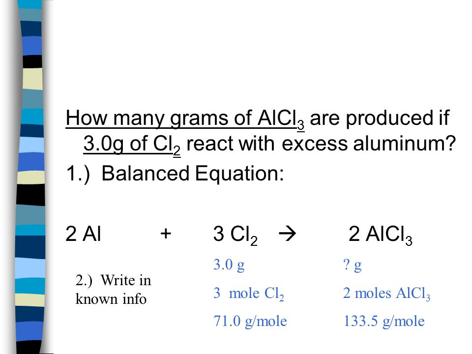 How many grams of AlCl3 are produced if 3
