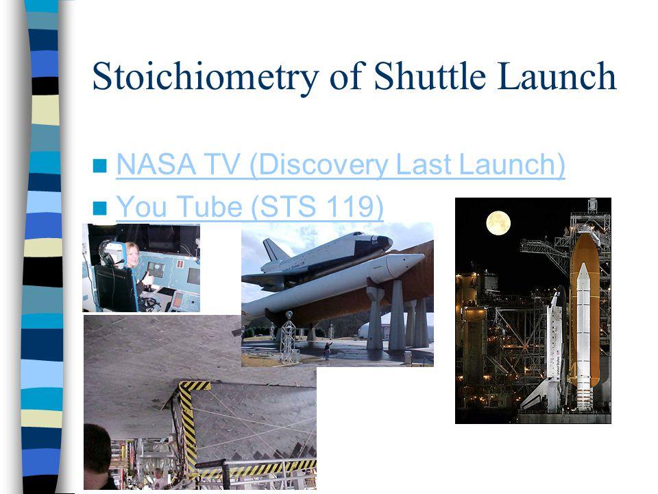 Stoichiometry of Shuttle Launch