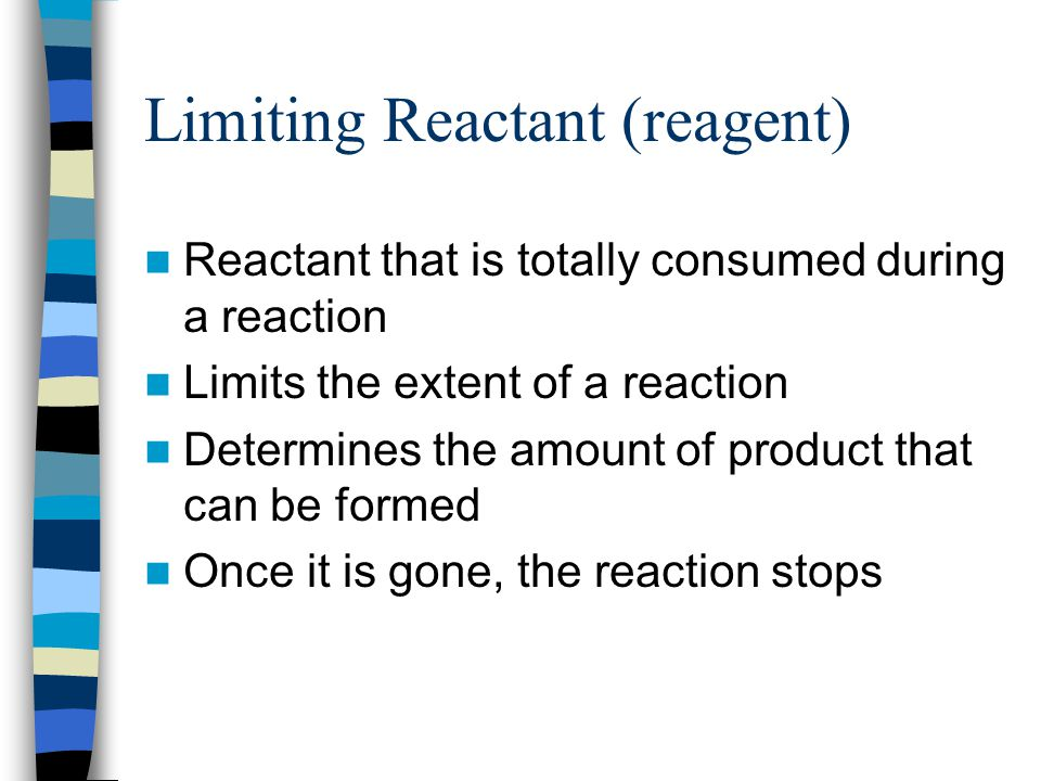Limiting Reactant (reagent)