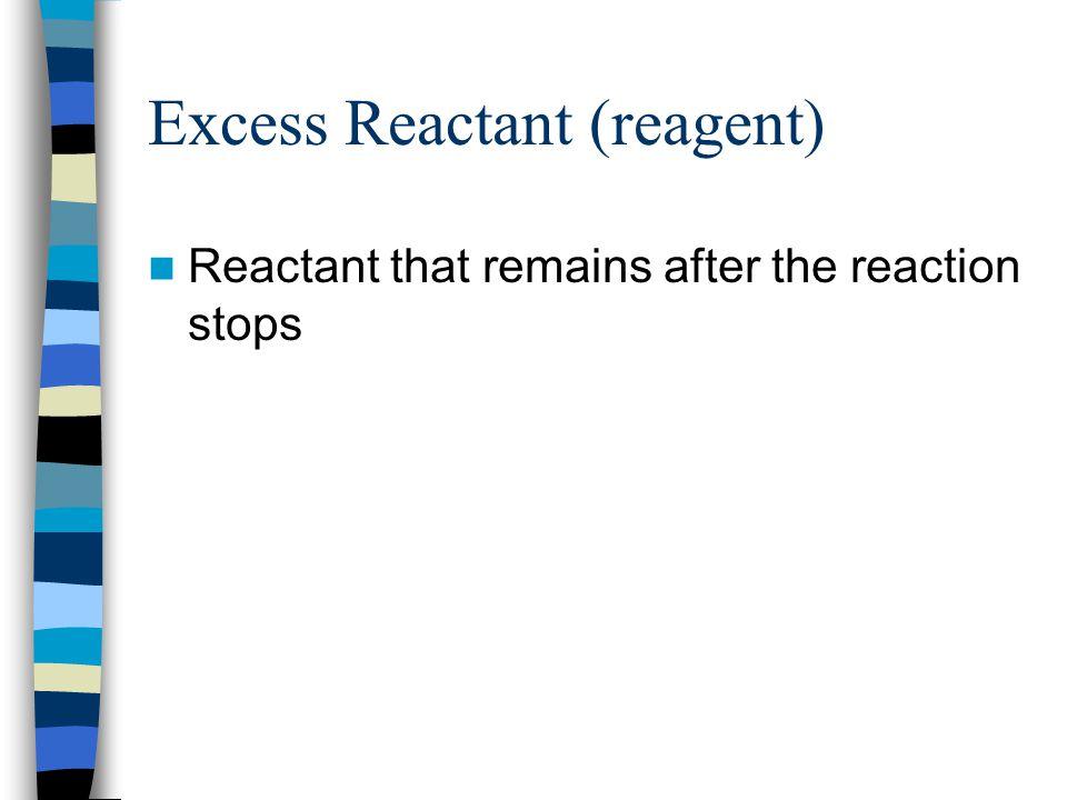 Excess Reactant (reagent)