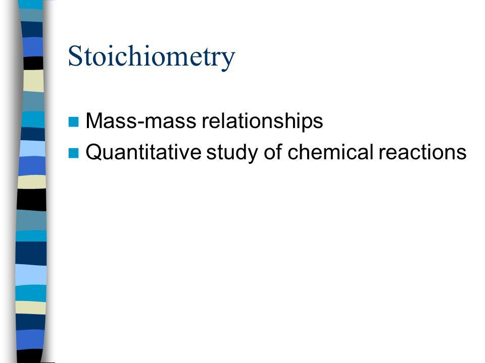 Stoichiometry Mass-mass relationships