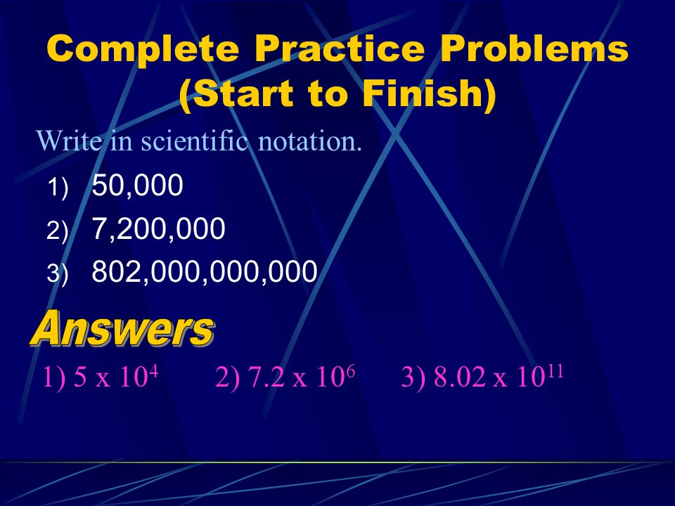 Complete Practice Problems (Start to Finish)