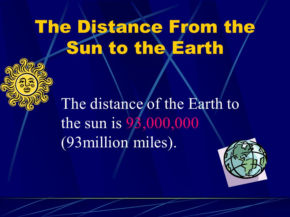 The Distance From the Sun to the Earth