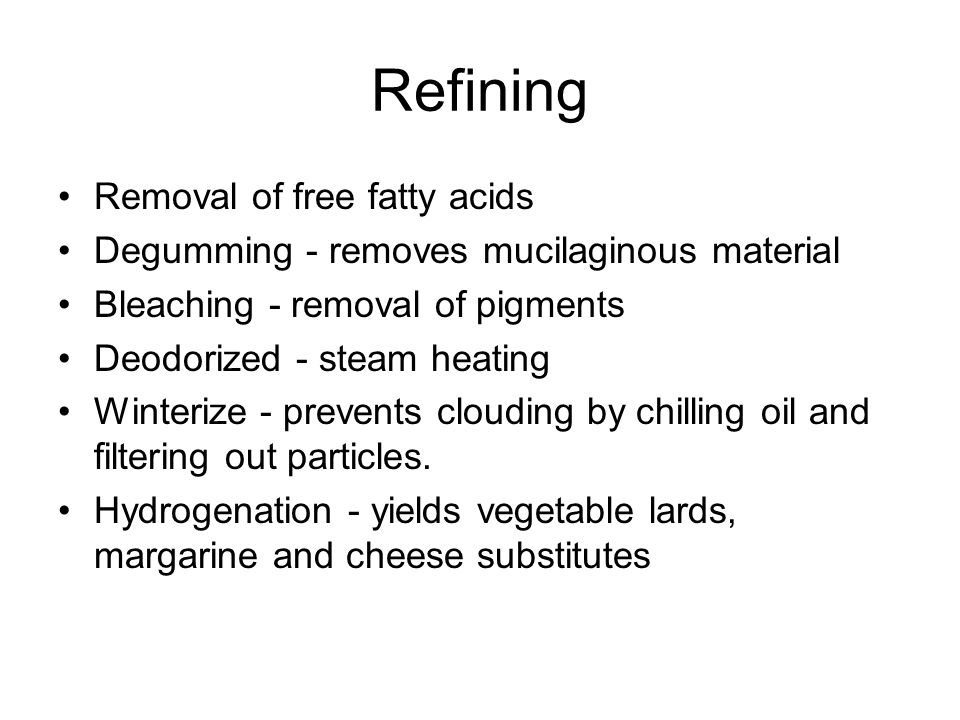Refining Removal of free fatty acids