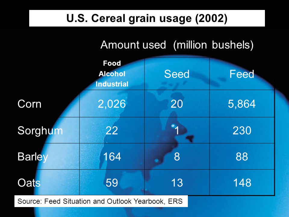 U.S. Cereal grain usage (2002)
