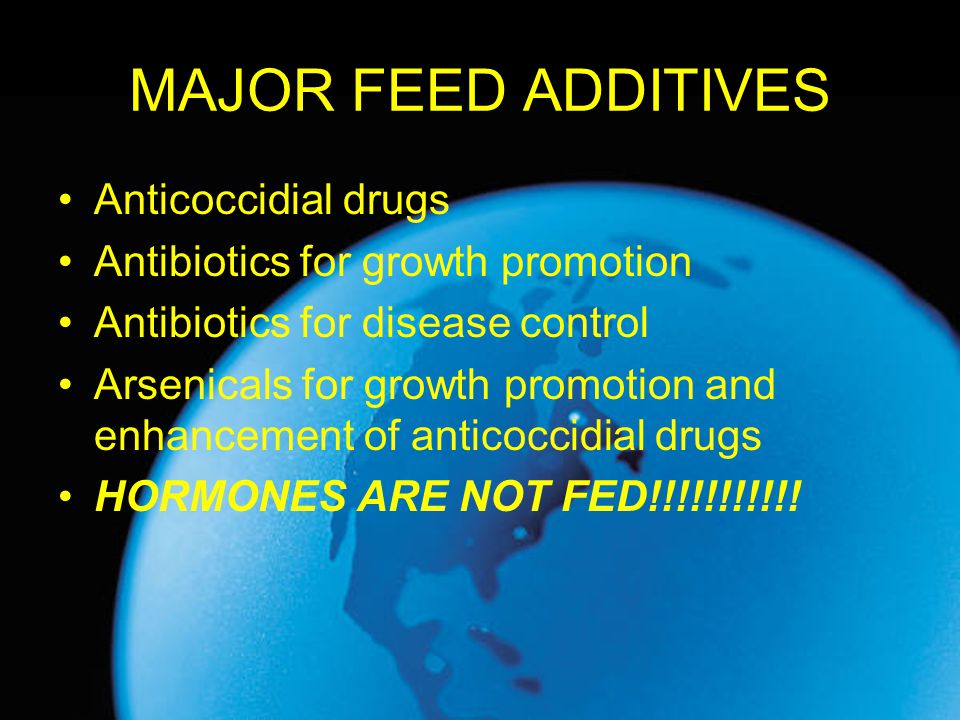 MAJOR FEED ADDITIVES Anticoccidial drugs