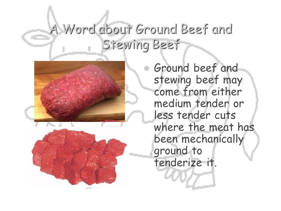 A Word about Ground Beef and Stewing Beef