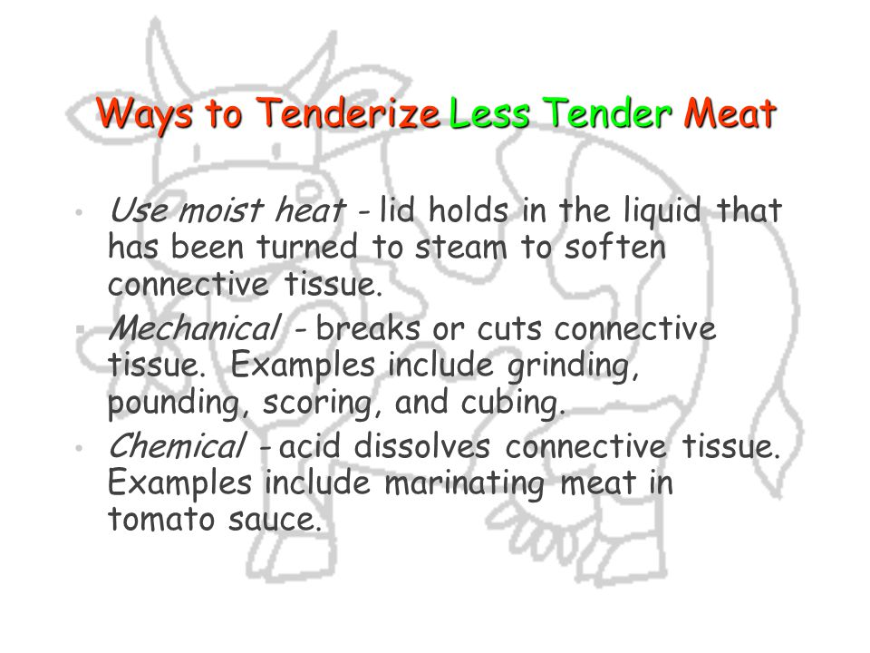 Ways to Tenderize Less Tender Meat