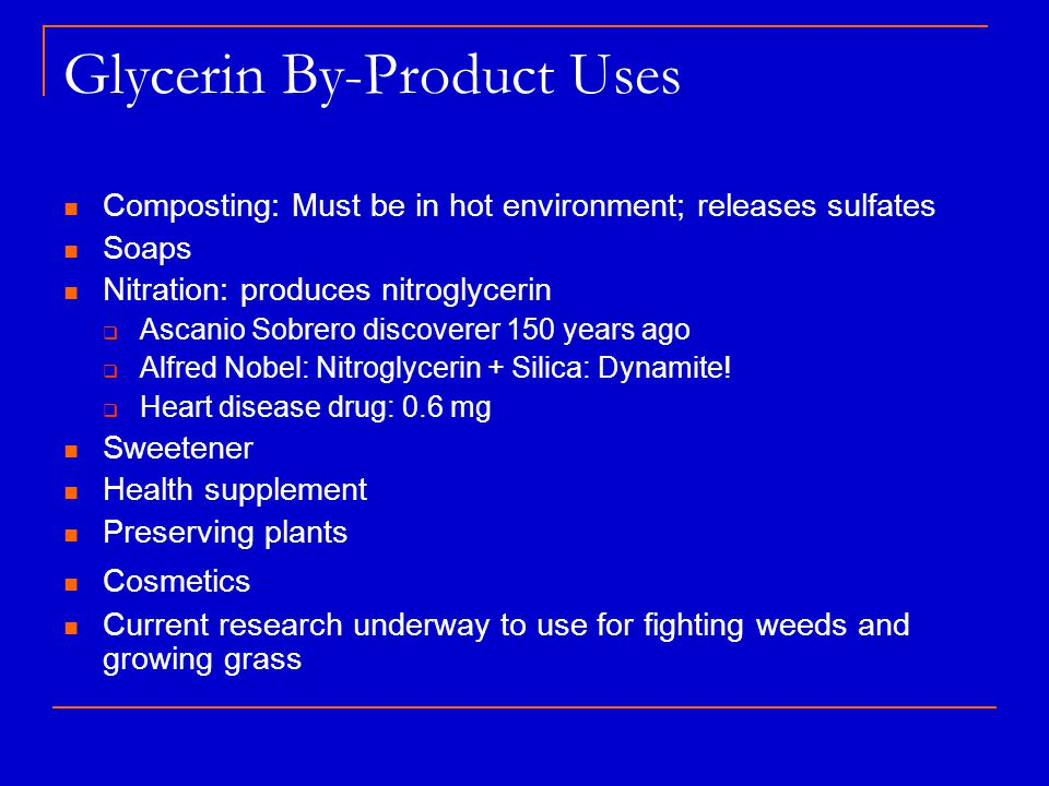 Glycerin By-Product Uses