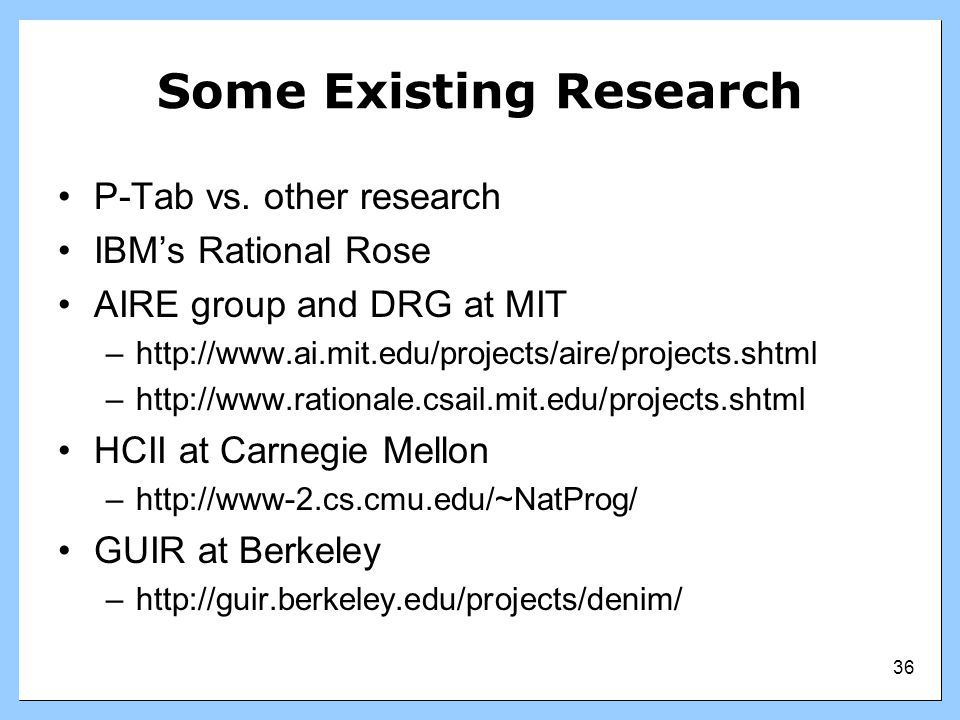 Some Existing Research