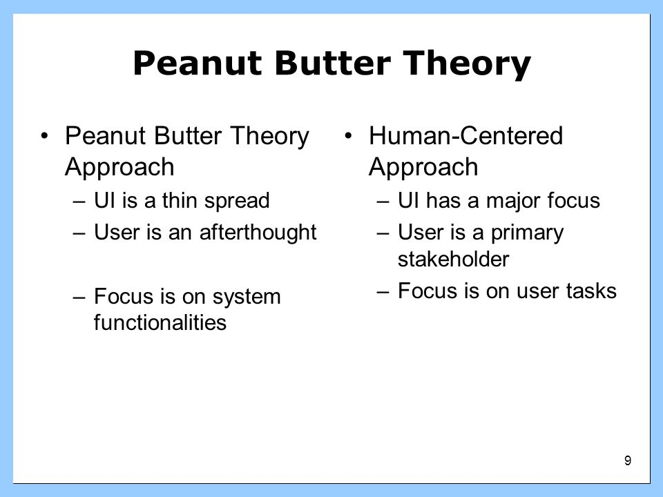 Peanut Butter Theory Peanut Butter Theory Approach