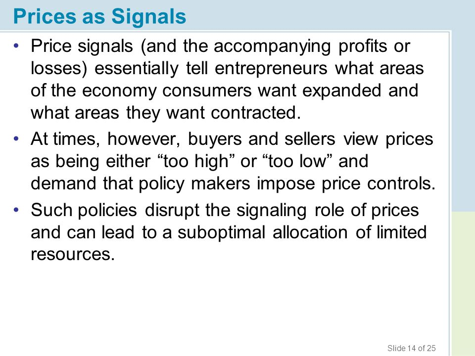 Prices as Signals