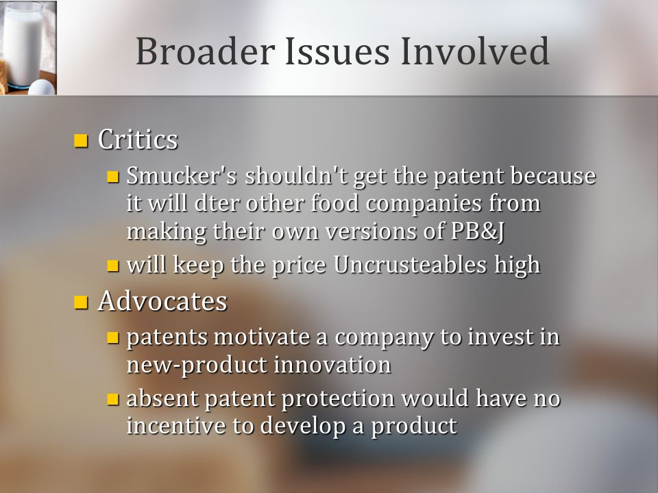 Broader Issues Involved