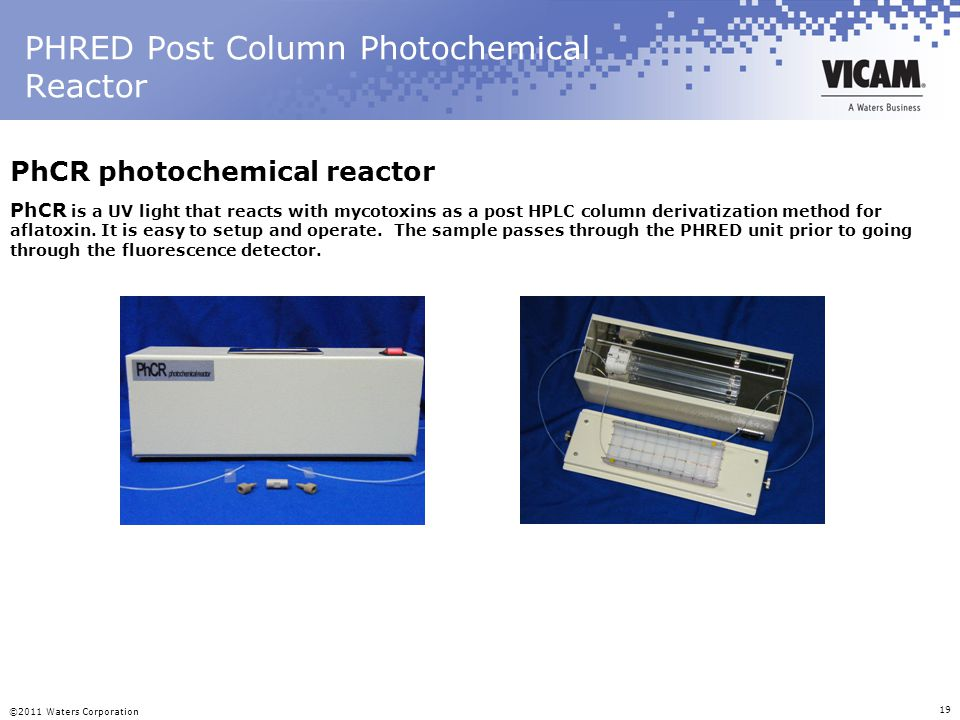 PHRED Post Column Photochemical Reactor
