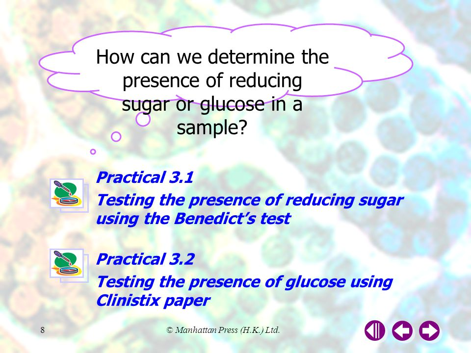 How can we determine the presence of reducing sugar or glucose in a sample