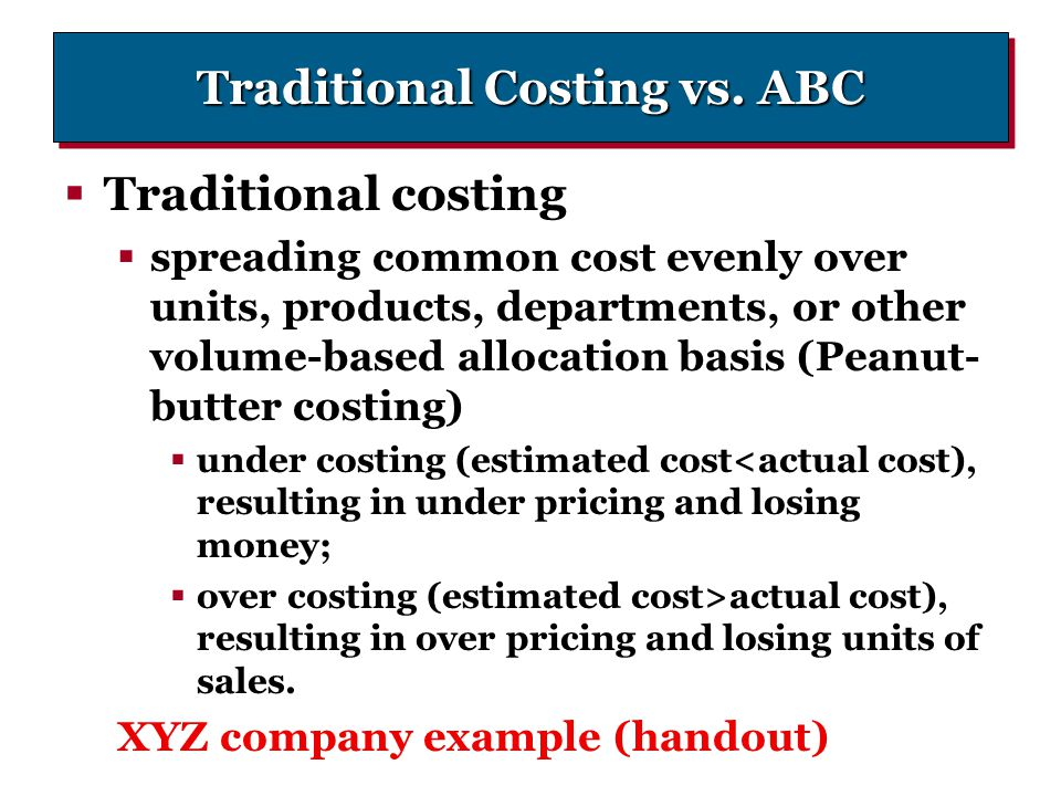 Traditional Costing vs. ABC