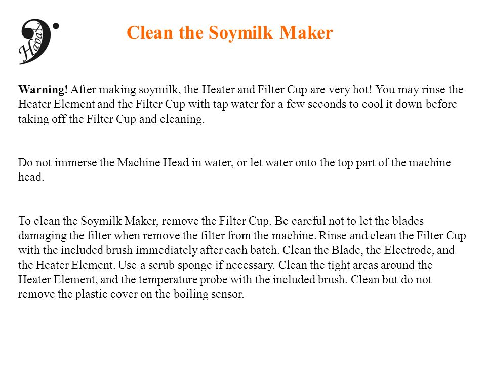 Clean the Soymilk Maker